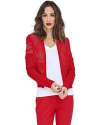 Mado Et Les Autres - Teddy Knit Albane Red Woman Spring/summer Collection 2018 Women's In Red - Lyst