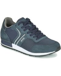 BOSS by Hugo Boss Lage Sneakers Parkour Runn Nymx2 - Blauw