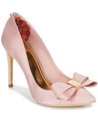 969c198583cfe2 Ted Baker Zephari Embellished Heel Court Shoes in Black - Lyst