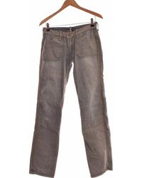 Meltin'pot Jean Droit Femme 36 - T1 - S Jeans - Bleu