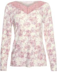 Lisca Pyjama's / Nachthemden Pyjamatop Met Lange Mouwen Isabelle - Roze