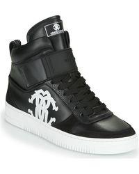Roberto Cavalli Hoge Sneakers 320 B - Zwart