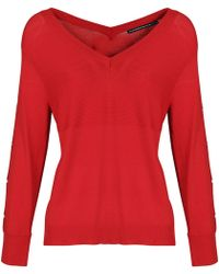 Mado Et Les Autres - Polyamide Viscose Knit Jumper Anais O Red Woman Spring/summer C Women's Jumper In Red - Lyst
