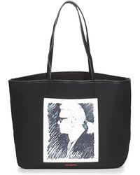 Karl Lagerfeld Boodschappentas Karl Legend Canvas Tote - Zwart