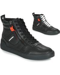 DIESEL Hoge Sneakers S-dvelows - Zwart