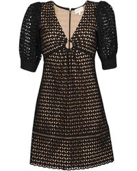 MICHAEL Michael Kors Abito Corto Geo Eyelet Mini Dress - Nero