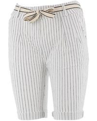 Culture Sud Short Gofer blanc raye lady