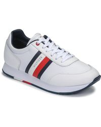 Tommy Hilfiger Sneakers Corporate Leather Flag Runner - Wit