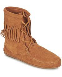 Minnetonka - Tramper Boot Women's Mid Boots In Brown - Lyst