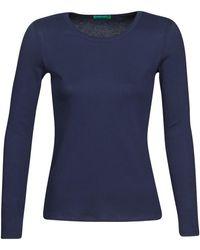 Benetton T-shirt Lange Mouw Noemie - Blauw