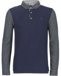 Vicomte A. Polo Shirt Lange Mouw Portishead Tri Polo - Blauw