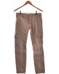 Stefanel Pantalon Droit Femme 36 - T1 - S Pantalon - Gris
