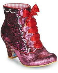 Irregular Choice Enkellaarzen Chinese Whispers - Roze