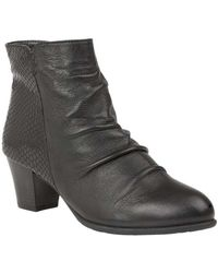 Lotus - Punata Womens Ankle Boots Women's High Boots In Black - Lyst