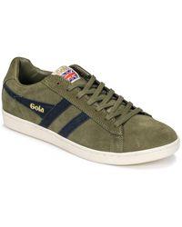 Gola Lage Sneakers Equipe Suede - Groen