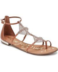 Sam Edelman - Tyra Women's Sandals In Brown - Lyst