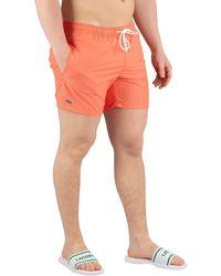Lacoste Homme Shorts de bain, Orange hommes Maillots de bain en orange
