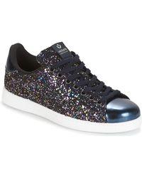 Victoria Lage Sneakers Deportivo Basket Glitter - Blauw