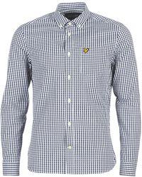 Lyle & Scott Overhemd Lange Mouw Lw1114v-z101 - Blauw