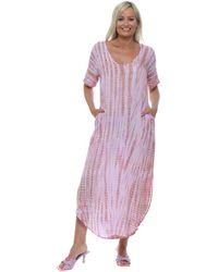 HOT LAVA Ula Lilac Moonstone Tie Dye Maxi Dress Long Dress - Purple