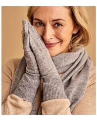 Woolovers Classic Cashmere Merino Gloves Gloves - Grey