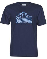 Columbia M PATH LAKE GRAPHIC TEE T-shirt - Bleu