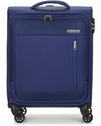 American Tourister Heat Wave 55cm Soft Suitcase - Blue