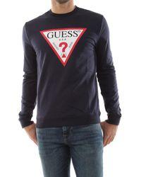 Guess M01Q37 K6ZS0 AUDLEY Sweat-shirt - Bleu