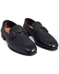 Fabi Mocassin cuir avec cachemire Chaussures - Noir
