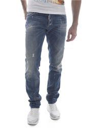 DSquared² Jean Slim Destroy S74la0918 - Jeans skinny - Bleu