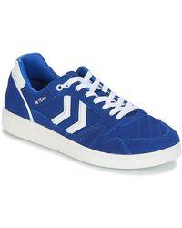 Hummel Lage Sneakers Hb Team Suede - Blauw
