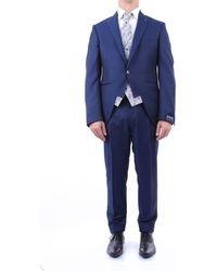 Luigi Bianchi Mantova Kostuum 3431194802 - Blauw