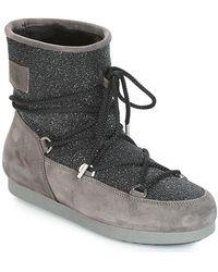 Moon Boot FAR SIDE LOW SUEDE GLITTER Bottes neige - Noir