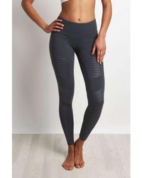 Alo Yoga - Moto Legging Slate/slate Glossy Women's Tights In Multicolour - Lyst