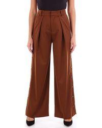 Isabelle Blanche Pantalons de costume P131T001 - Marron