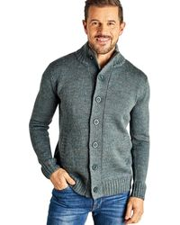 Woolovers Pure Wool Button Everyday Cardigan - Multicolour
