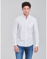 Tommy Hilfiger Camicia A Maniche Lunghe Tjm Dobby Shirt - Bianco