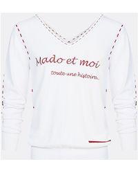 1e7858e2 Jumper Inscription Mado And Me Women's Sweatshirt In White