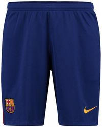 Nike - 2017-2018 Barcelona Home Football Shorts Women's Shorts In Blue - Lyst