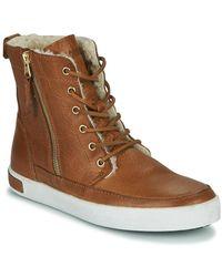 Blackstone Zapatillas altas CW96 - Marrón