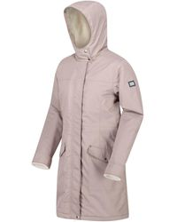 Regatta Rimona Waterproof Insulated Hooded Parka Jacket Natural Coat