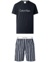 Calvin Klein Pyjama court coton Pyjamas / Chemises de nuit - Noir