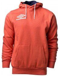 Umbro Pure Sleeve Print Hoodie Sweat-shirt - Orange