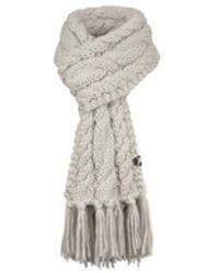 Salewa Chunky Knit Scraf 22075-7140 Women's Scarf In Grey - Gray