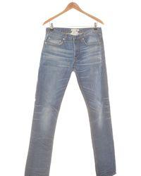 Sandro Jean Droit Homme 40 - T3 - L Jeans - Bleu