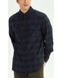 Burton Overhemd Lange Mouw Men's Brighton Flannel Slim Shirt - Zwart