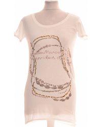 Maison Scotch Top Manches Courtes 38 - T2 - M T-shirt - Blanc