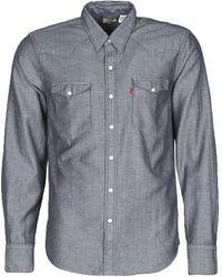 Levi's Overhemd Lange Mouw Levis Barstow Western Indigo - Blauw