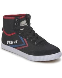 Feiyue - A.s High Origine 1920 Women's Shoes (high-top Trainers) In Black - Lyst