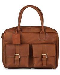 Burkely Laptoptas Finn Vintage Businessbag Classic 14 Inch - Bruin
